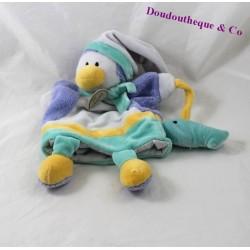 Doudou marionnette pingouin DOUDOU ET COMPAGNIE Graines de doudou poisson DC2194 30 cm
