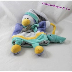 Doudou puppet Penguin DOUDOU and company seeds of doudou fish DC2194 30 cm