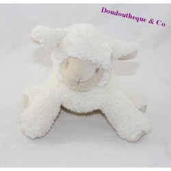 Sheep Doudou PEDIATRIL AVÈNE white spiral blue 18 cm