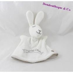 Doudou marionnette lapin DPAM Mon petit théâtre blanc 21 cm