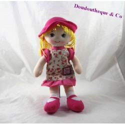 Plush doll cloth story of bear doll blonde Hat elegant pink HO2226 32 cm