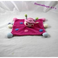 Doudou flat Ladybug MGM DODO of love pink rose blue peas 25 cm