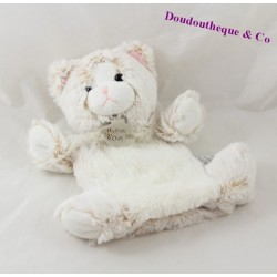 Doudou puppet cat history of bear Z' beige white z'animoos HO2135 24 cm