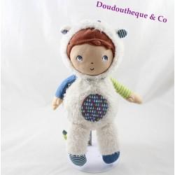 Peluche poupée Gaston ORCHESTRA déguisé en mouton Prémaman 28 cm
