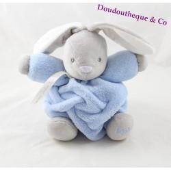 Doudou patapouf lapin KALOO Plume ptit lapin bleu et gris 20 cm