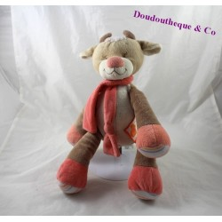 Cow plush NATTOU the Zamis beige pink butterfly 30 cm
