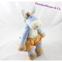 Plush donkey Paco NOUKIE's short flowery 27 cm