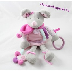 Activities Perly stuffed mouse Don and company pink purple gray 30 cm