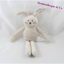 Doudou rabbit KIMBALOO beige white 27 cm