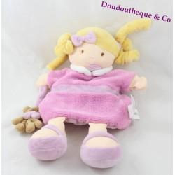 Poupée marionnette Rose DOUDOU ET COMPAGNIE Les Demoiselles de doudou 25 cm