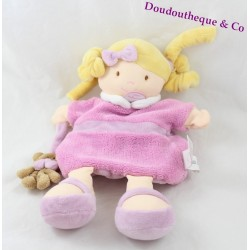 Puppet doll pink BLANKIE and company the damsels of doudou 25 cm