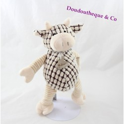 Plush cow story of bear Vagabond puppet brown beige 25 cm