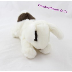 Doudou lapin HISTOIRE D'OURS Calin blanc tâches noir 17 cm