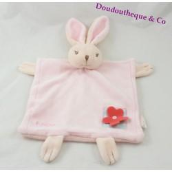 Rabbit flat comforter KALOO Lilirose flower red back feather 34 cm