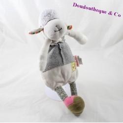 Doudou mouton MOULIN ROTY Les Cousins du moulin beige 31 cm