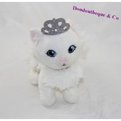 Peluche chat BARBIE princesse couronne grise 21 cm