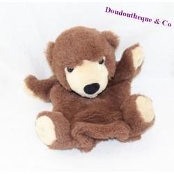 Doudou marionnette ours CREATIONS DANI marron beige 24 cm