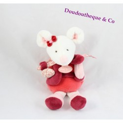 Doudou Clementine rattle mouse red rose DOUDOU and company DC2613