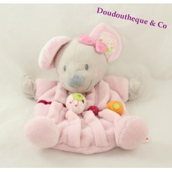 Semi flat comforter mouse NICOTOY pink