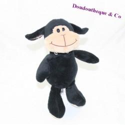 Peluche mouton FERRERO KINDER noir beige 25 cm