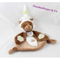 Flache Doudou Groundhog Geschichte tragen HO Studio braune weißen Schneeflocken