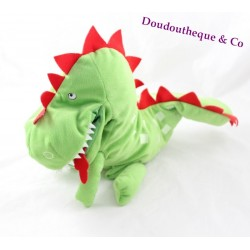 Plush puppet dragon IKEA Laskig green 25 cm
