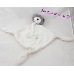 Doudou plat ours Carréblanc Carré Blanc cheval bascule vert 43 cm
