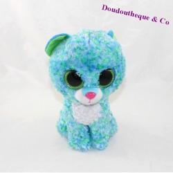 Plush TY Beanie Boos Leona leopard blue green eyes 22 cm
