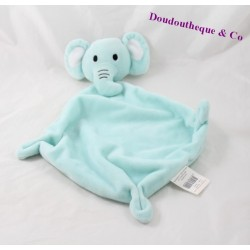 Doudou flat Blue Diamond BABOU elephant 3 knots 37 cm