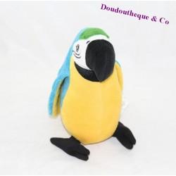 Peluche perroquet IKEA Onskad bleu jaune 23 cm
