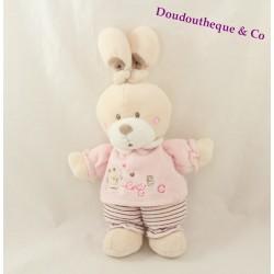 Rabbit NICOTOY plush pink ABC 22 cm
