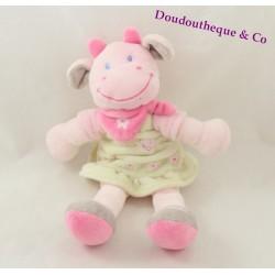 Cow Doudou NICOTOY green bandana dress rose 23 cm
