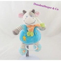 Plush musical cow blue gray NICOTOY 22 cm