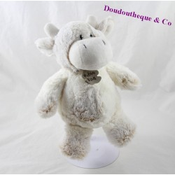 Cow Teddy bear history the Z' z'animoos white beige 21 cm