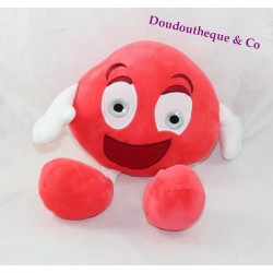 Peluche publicitaire fraise tagada HARIBO rouge blanc 30 cm