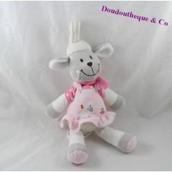 Plush musical sheep NICOTOY pink dress turtle 30 cm