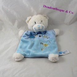 Doudou plat ours TEX BABY tortue Hide and Seek 25 cm