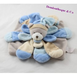 Doudou flat blue BLANKIE and company Collector bear powdered DC2380 20 cm