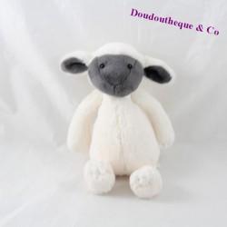Peluche mouton JELLYCAT blanc gris 20 cm