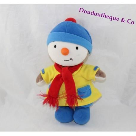 Peluche T'choupi AJENA NOUNOURS tenue hiver bonnet écharpe 24 cm