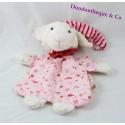 Doudou plat mouton KÄTHE KRUSE rose bonnet 23 cm