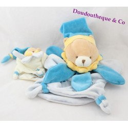 Doudou DOUDOU and company blue MOM baby bear puppet