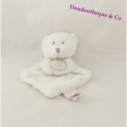 Mini bears doudou DOUDOU and company white Vertbaudet 15 cm