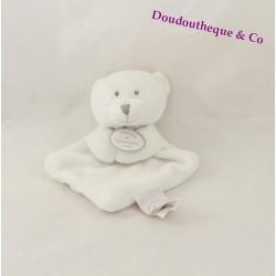 Mini doudou ours DOUDOU ET COMPAGNIE blanc Vertbaudet 15 cm