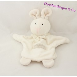 Doudou puppet Bunny BLANKIE and company Calidoux nature white