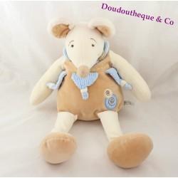 Plush mouse DOUDOU AND COMPANY collection nature beige blue 49 cm