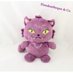 Peluche Chat violet MONSTER HIGH croissant chat de Clawdeen Wolf  23 cm