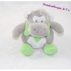 Doudou hippopotame CMP Tom et ses z'amis gris vert 15 cm