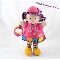 Attività LAMAZE risveglio campana bambola peluche rosa 28 cm