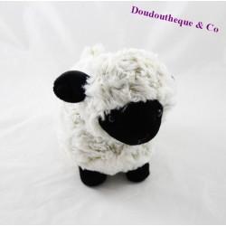 Doudou mouton RODADOU RODA noir beige 20 cm